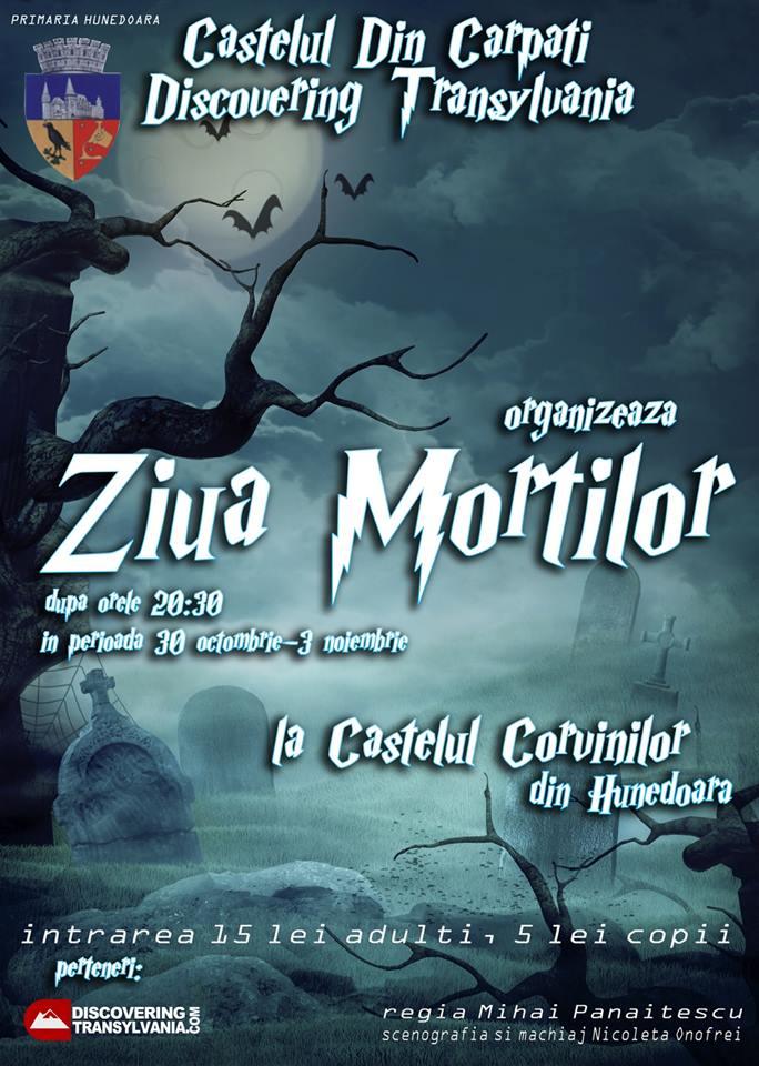 """""""Ziua Morţilor"""", la Castelul Corvinilor din Hunedoara"""
