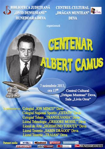 Centenar Albert Camus, aniversat la biblioteca județeană din Deva