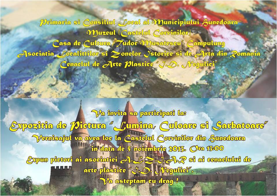 """""""Lumină, Culoare şi Sărbătoare"""", la Castelul Corvinilor din Hunedoara"""