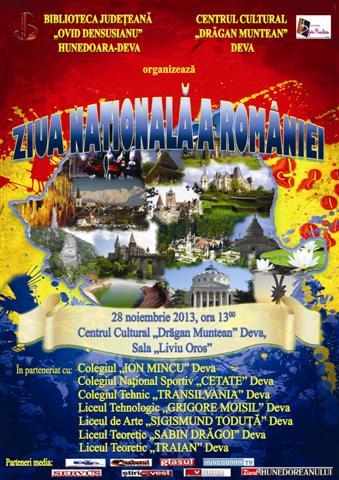 Manifestare culturală dedicată Zilei Naționale a României, la Biblioteca Județeană din Deva