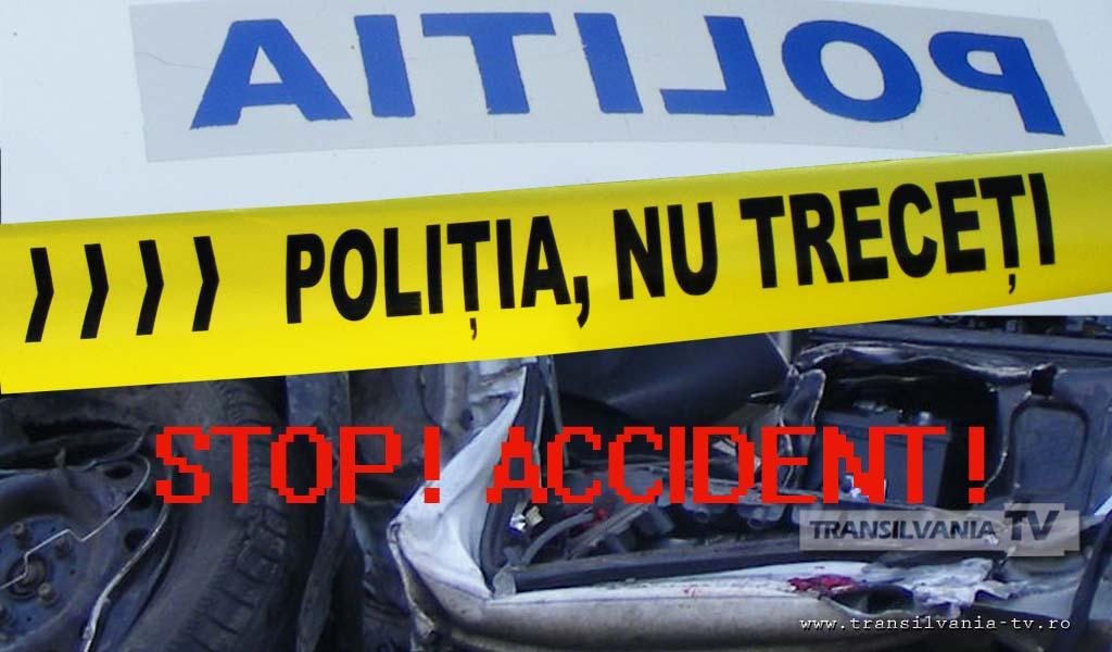 Un hunedorean, cu permisul de conducere suspendat, s-a răsturnat cu mașina pe calea ferată