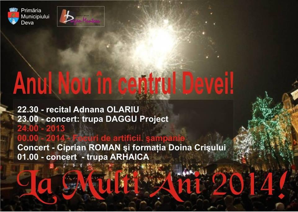 Anul Nou în centrul Devei!