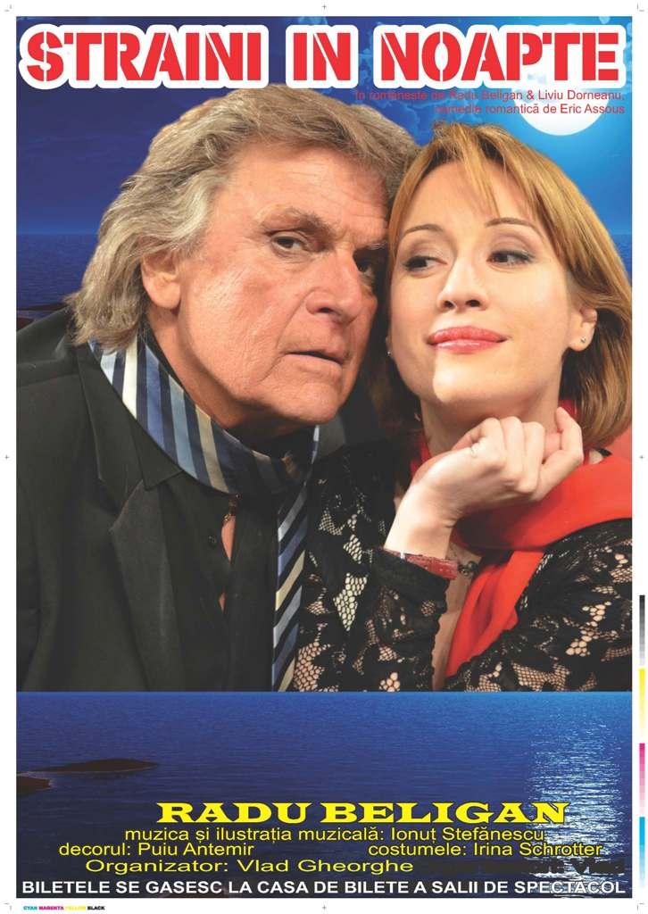 """Piesa de teatru """"Străini în noapte"""", cu Florin Piersic și Medeea Marinescu, pe scena Casei de Cultură din Hunedoara"""