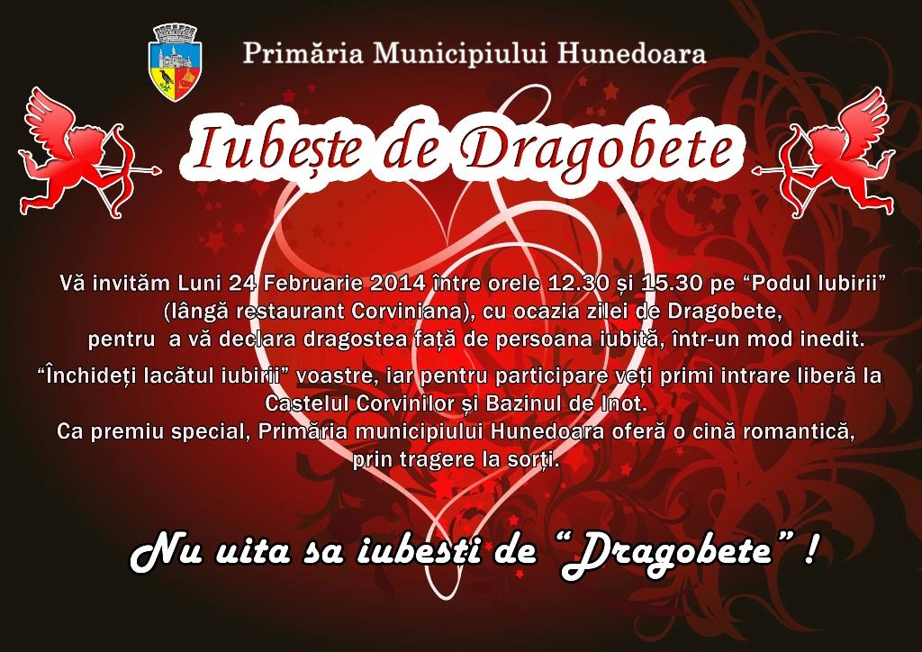 """Dragobetele, sărbătorit pe """"Podul Iubirii"""" din Hunedoara"""