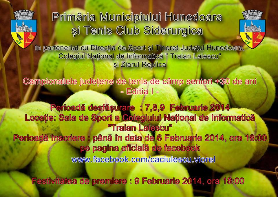 Hunedoara va găzdui ediția I a Campionatului Județean de tenis de câmp