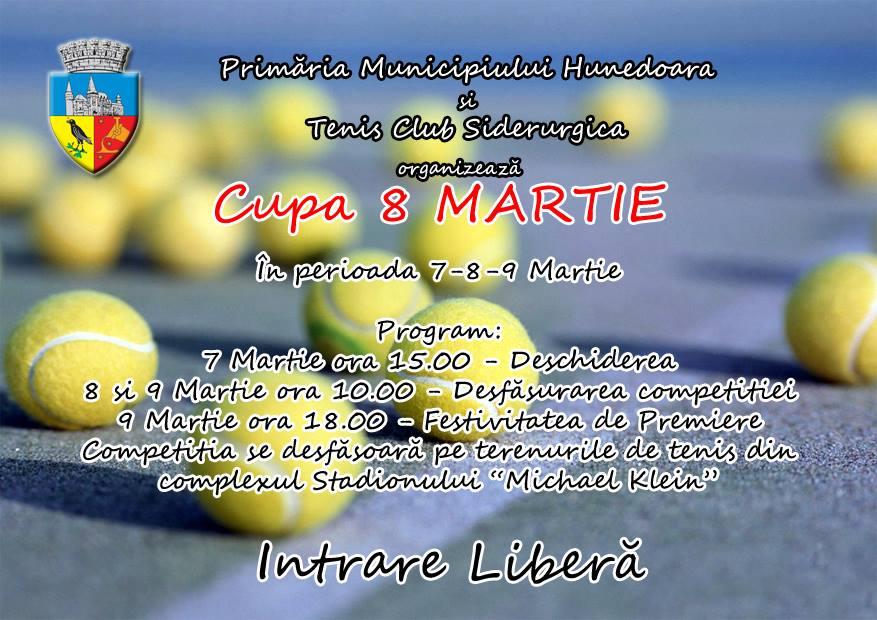 """""""Cupa 8 Martie"""" la tenis de câmp se va desfășura în Hunedoara"""