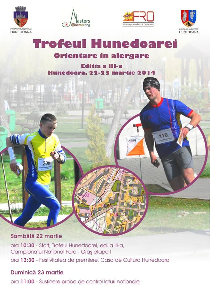 """Ediția a III-a a concursului de orientare în alergare """"Trofeul Hunedoarei"""" se va desfășura în perioada 21-23 martie"""