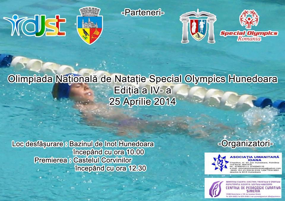 """Olimpiada Naţională de Nataţie """"Special Olympics"""" Hunedoara 2014"""