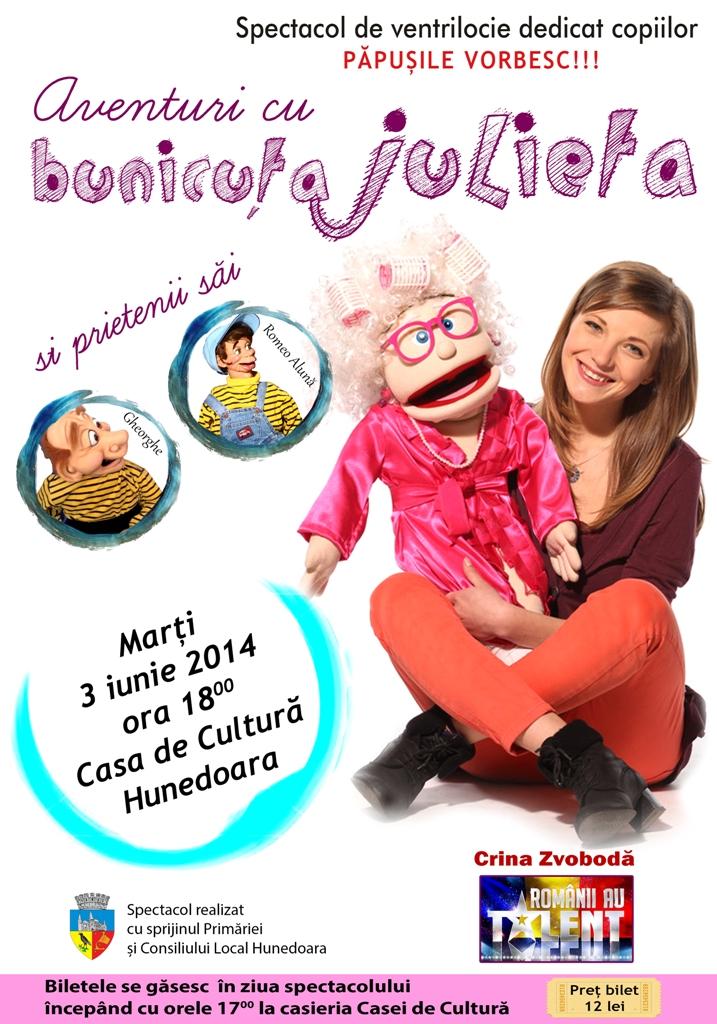 Spectacol de ventrilocie pentru copii la Hunedoara