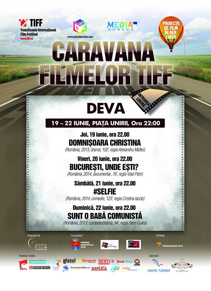 Caravana filmelor TIFF ajunge în Deva (19-22 iunie)