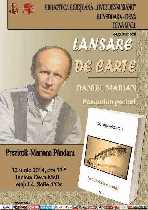 """Întâlnire cu jurnalistul și poetul Daniel Marian prilejuită de lansarea volumului de versuri """"Penumbra peniței"""""""