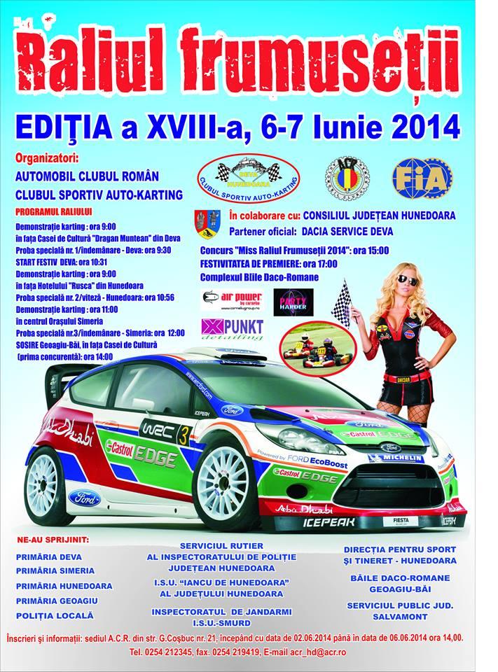 Raliul Frumuseții se desfășoară sâmbătă în Hunedoara