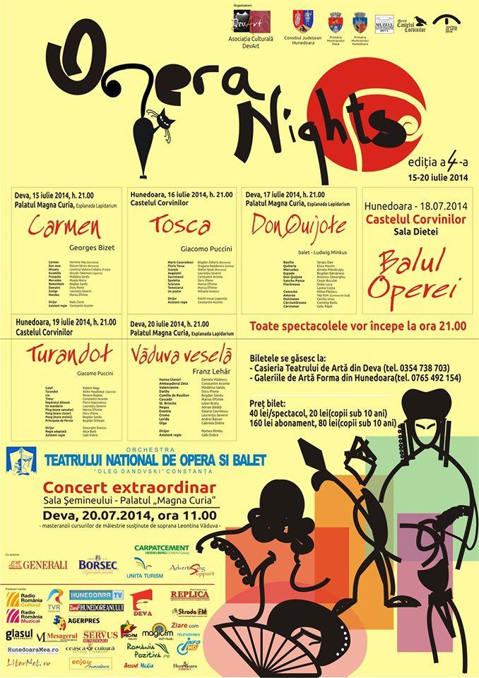 OPERA NIGHTS 2014: Vezi programul manifestării