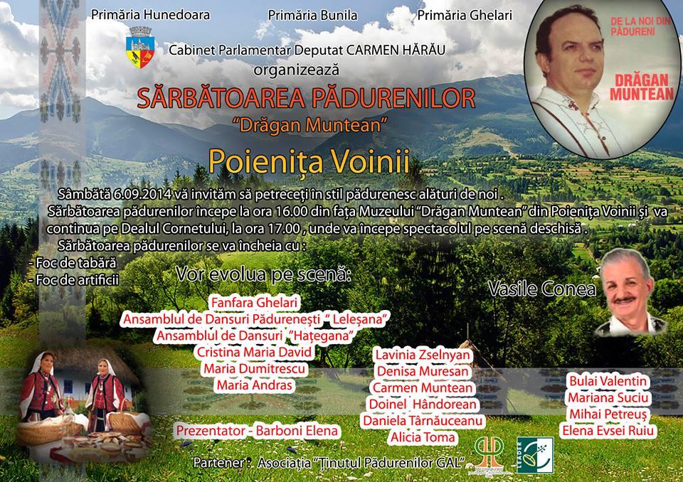 """""""Sărbătoarea Pădurenilor – Drăgan Muntean"""" se desfășoară în acest weekend"""