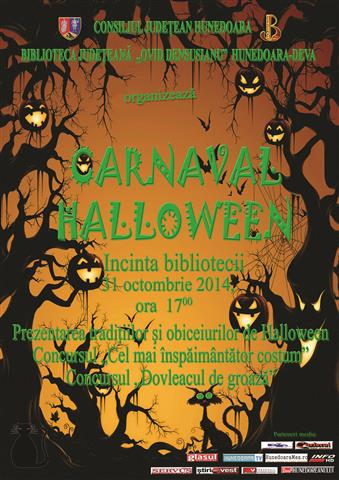 Carnaval Halloween la Biblioteca Județeană din Deva