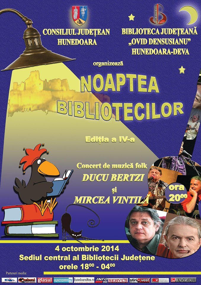 Ducu Bertzi și Mircea Vintilă vor concerta la Biblioteca Județeană Deva