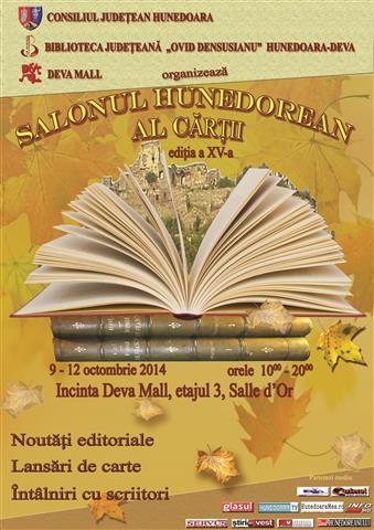 Salonul Hunedorean al Cărții se desfășoară în municipiul Deva (9-12 octombrie)