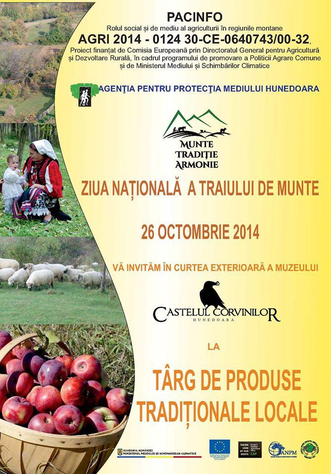 Ziua Națională a Traiului de Munte va fi marcată în Hunedoara