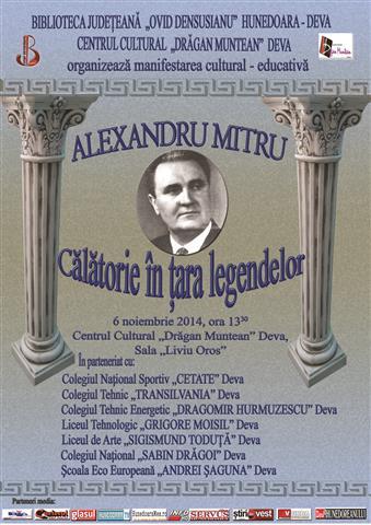 Centenar Alexandru Mitru, la Biblioteca din Deva
