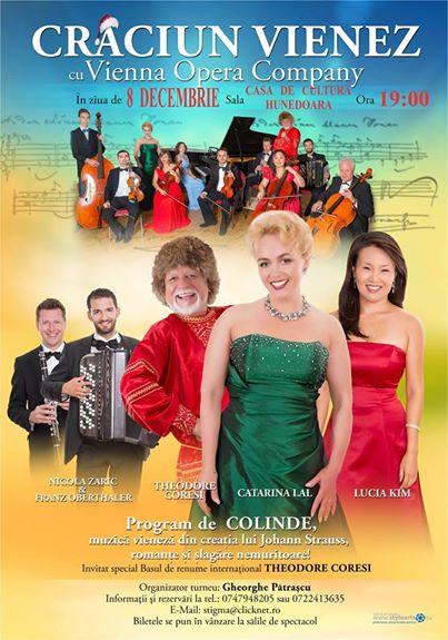 """""""Crăciun Vienez"""" cu Vienna Opera Company, la Casa de Cultură din Hunedoara"""