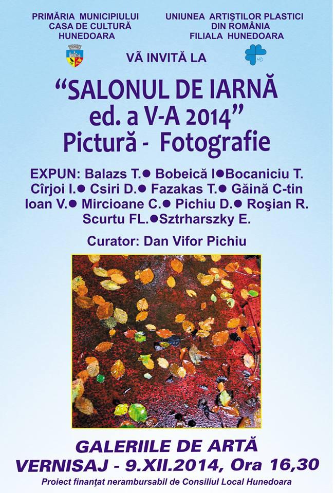 """Ediția a V-a a """"Salonului de Iarnă"""", la Galeria de Arte din Hunedoara"""
