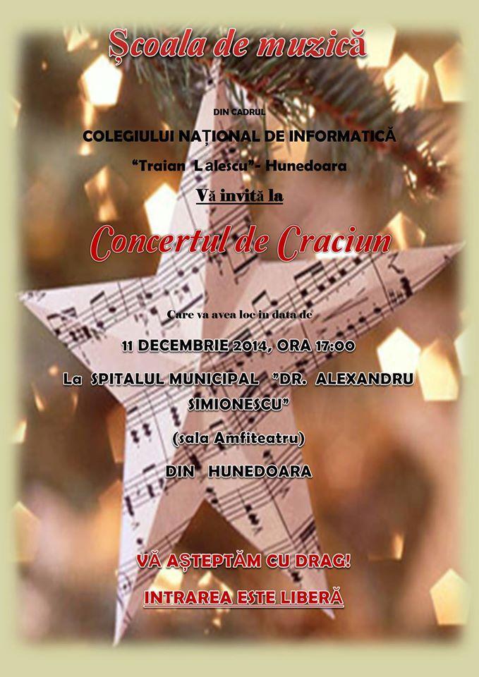 Concert de Crăciun la spitalul din Hunedoara