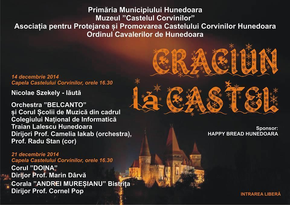 Hunedoara: Crăciun la castel (14 și 21 decembrie)