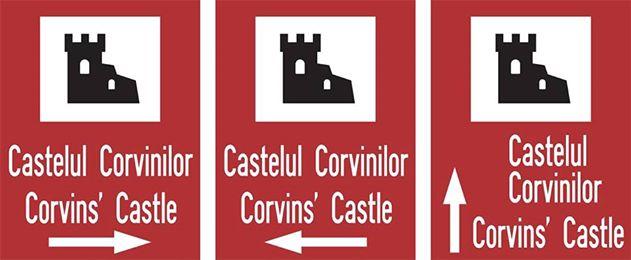 55 de indicatoare de informare turistică vor semnaliza direcția către Castelul Corvinilor