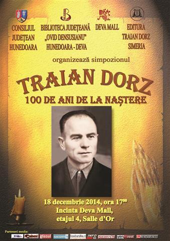 Deva: Simpozion Traian DORZ -100 de ani de la naștere