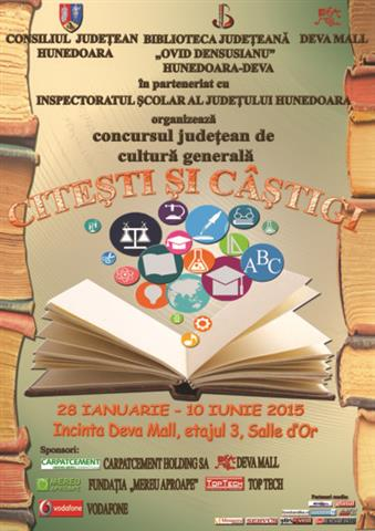 """Deva: Lansarea primei ediții a concursului județean de cultură generală """"Citești și câștigi"""""""