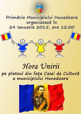 Hora Unirii în Hunedoara