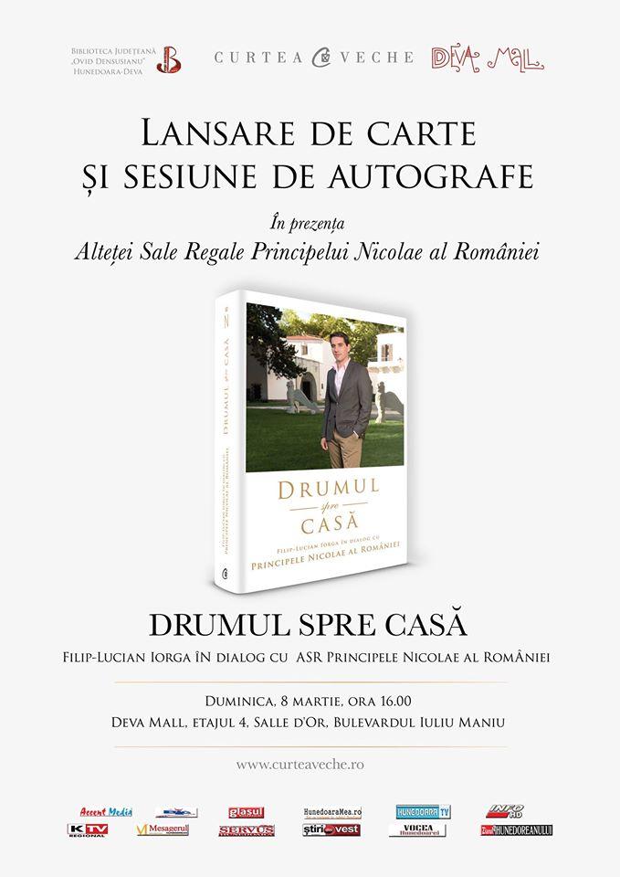 """Lansare de carte la Deva: """"Drumul spre casă. Filip-Lucian Iorga în dialog cu Principele Nicolae al României"""""""