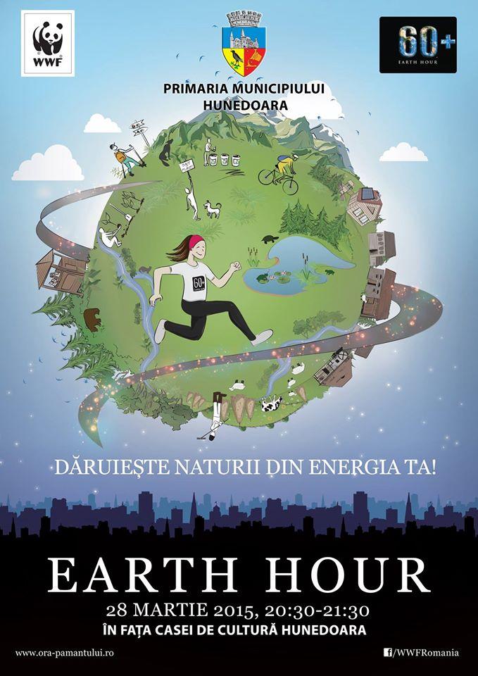 Ora Pământului, sărbătorită în municipiul Hunedoara
