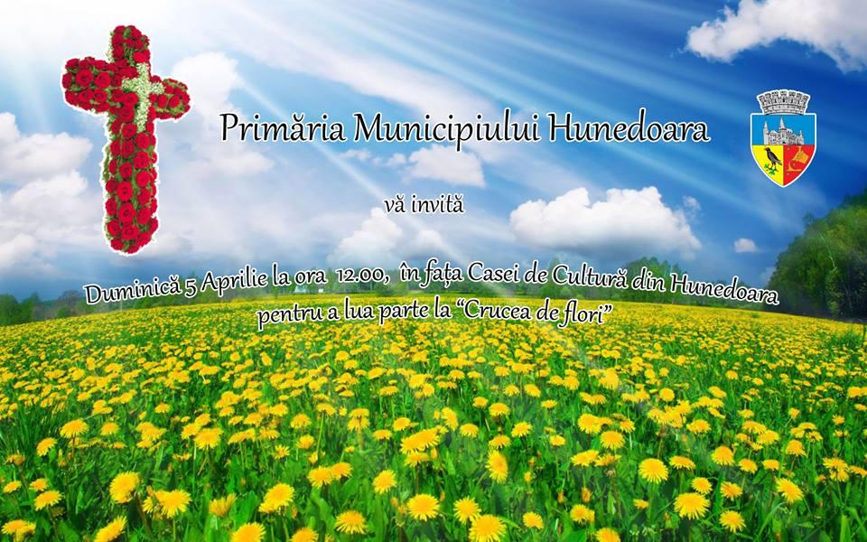 Hunedoara: Crucea de flori va fi confecționată duminică, 5 aprilie