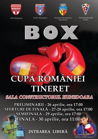 Cupa României la Box (Tineret) va fi găzduită de municipiul Hunedoara