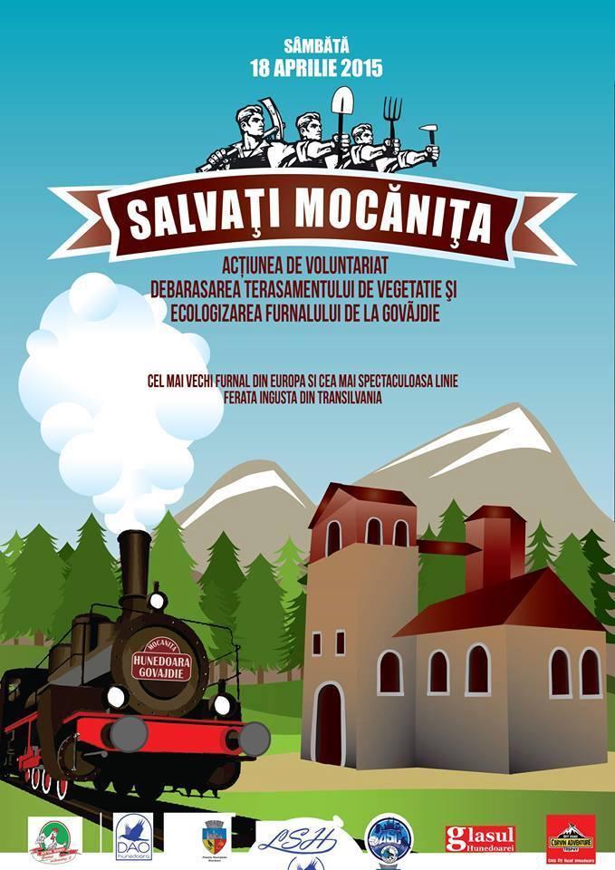 Acțiune de ecologizare în Hunedoara: Ziua Mocăniței, marcată în data de 18 aprilie