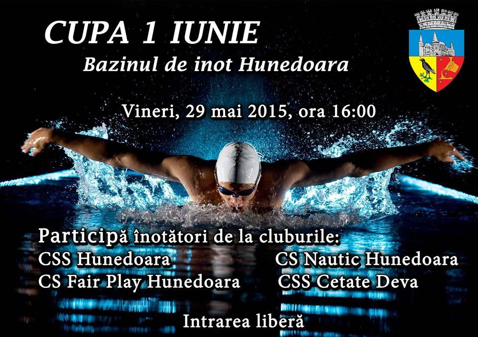 """""""Cupa 1 Iunie"""" la înot va fi organizată în Hunedoara"""