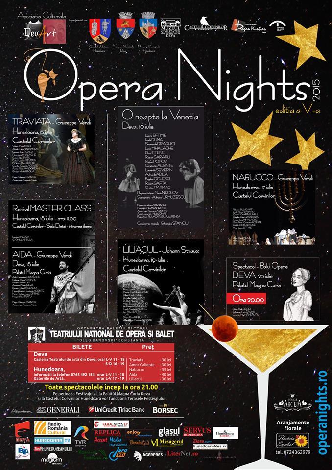 """Ediția a V-a a festivalului """"Opera Nights"""" se va desfășura în Deva și Hunedoara"""