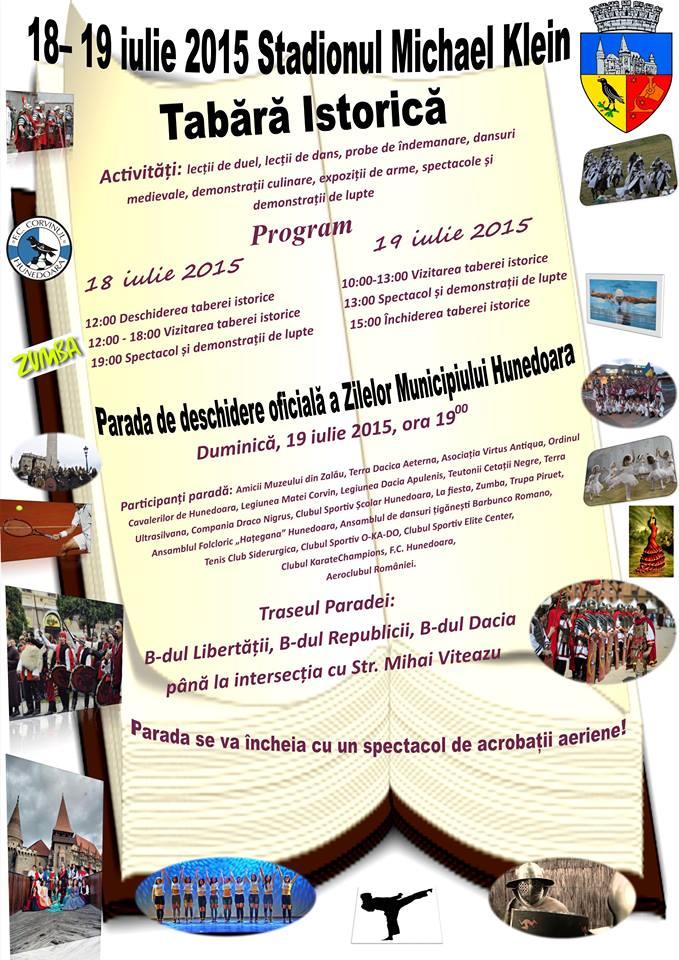 Tabără Istorică organizată cu ocazia Zilelelor municipiului Hunedoara