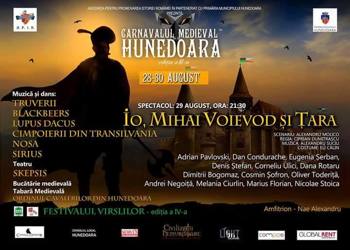 Carnavalul Medieval de la Hunedoara a ajuns la ediția a IV-a
