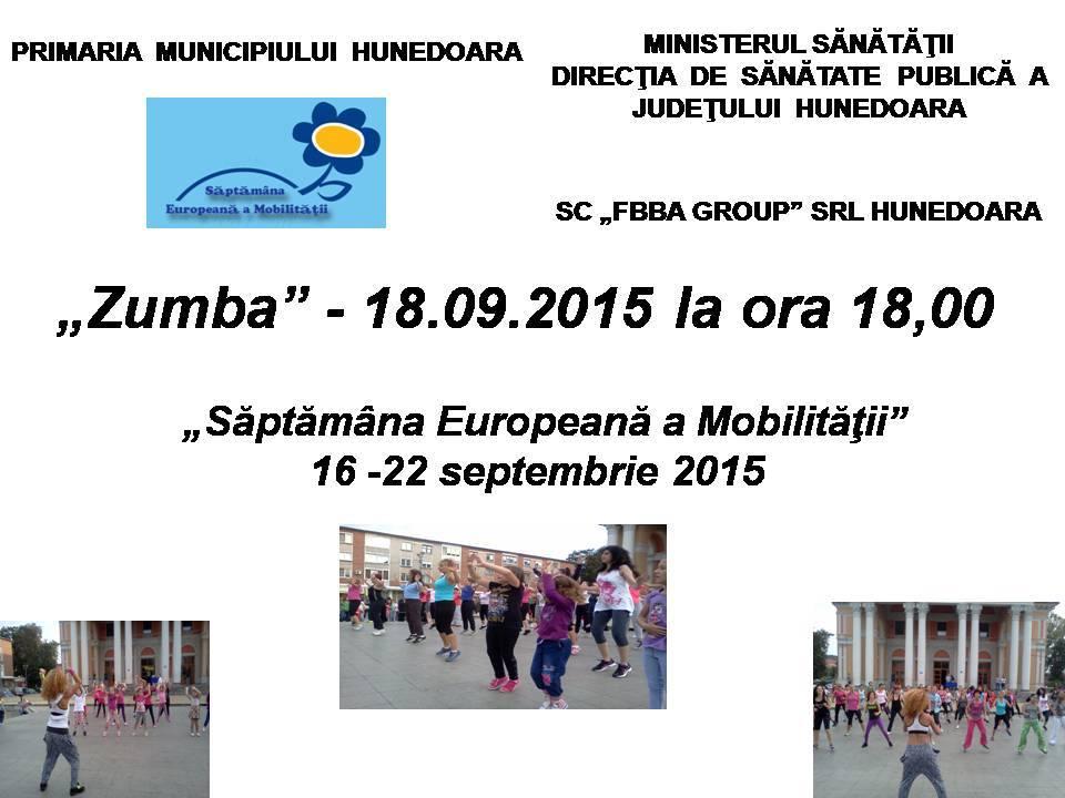 Hunedoara: Săptămâna Europeană a Mobilităţii (16 – 22 septembrie 2015)