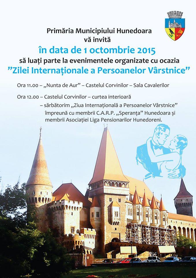 """""""Ziua Internațională a Persoanelor Vârstnice"""" va fi sărbătorită și în Hunedoara"""