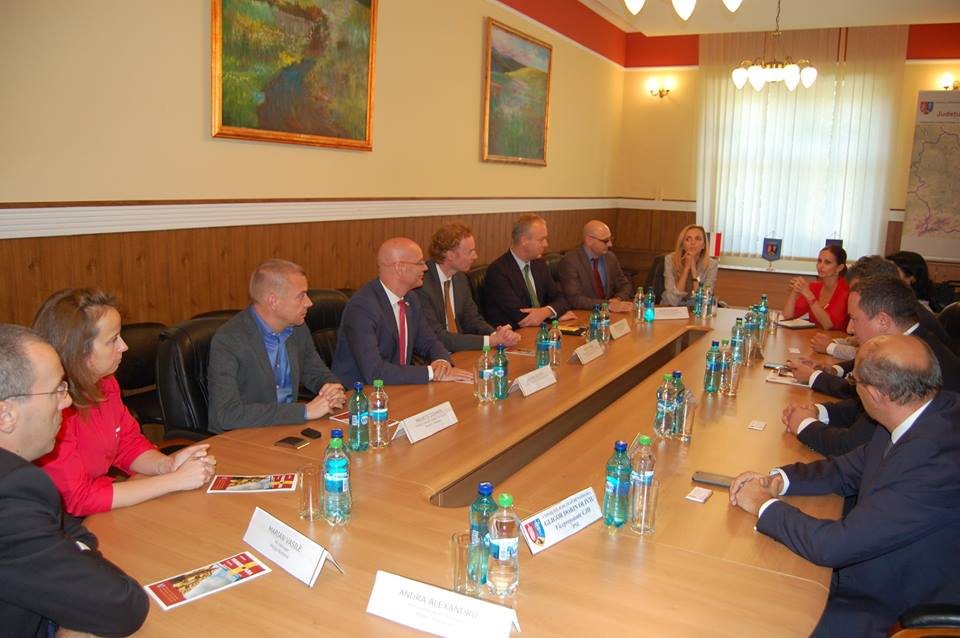 Delegație olendeză, în vizită la CJ Hunedoara