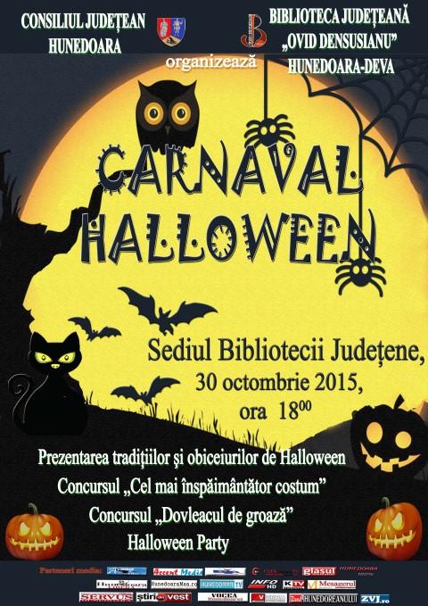 """Deva: Carnavalul Halloween la Biblioteca Județeană """"Ovid Densușianu"""""""
