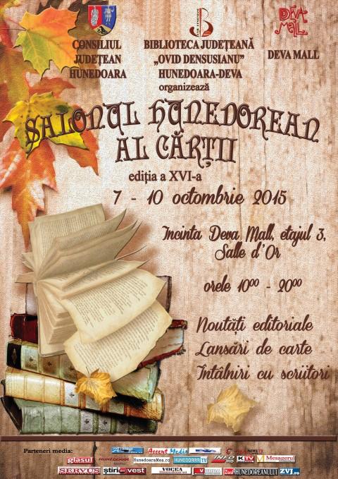 Cea de-a XVI-a ediție a tradiționalului Salon Hunedorean al Cărții (7-10 octombrie)