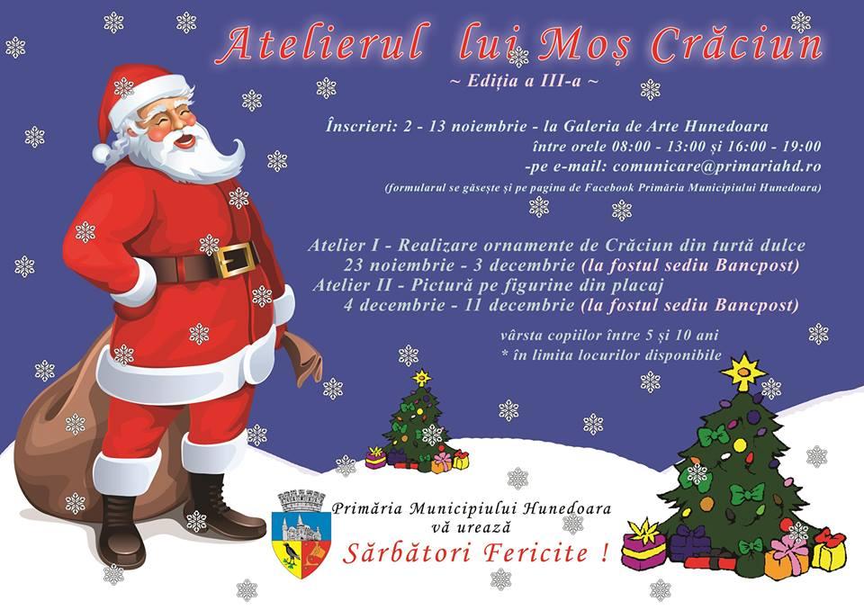 Hunedoara: Atelierul lui Moş Crăciun 2015, ediţia a III-a