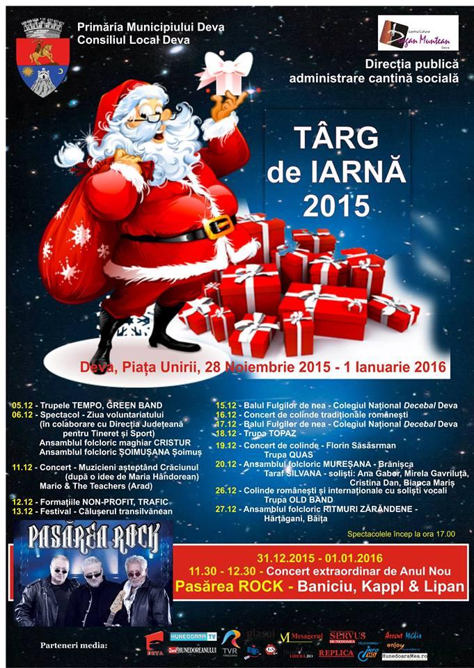 Vezi programul evenimentelor care vor fi organizate în Deva în luna decembrie