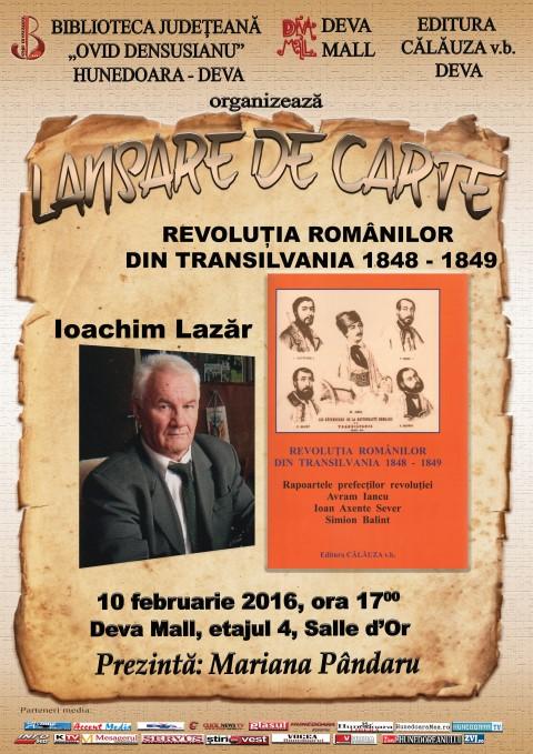 Deva: Istoricul Ioachim Lazăr își lansează o nouă carte