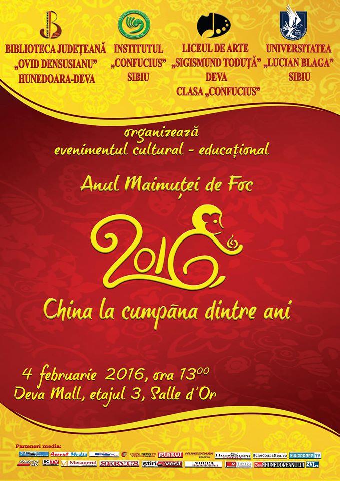 Deva: Anului Nou Chinezesc va fi marcat în data de 4 februarie
