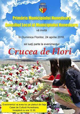 Crucea de Flori a devenit deja tradiție în municipiul Hunedoara